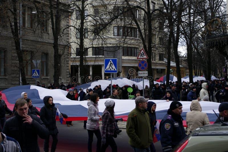 Protesta de ?ntiauthority en Járkov, Ucrania imagen de archivo