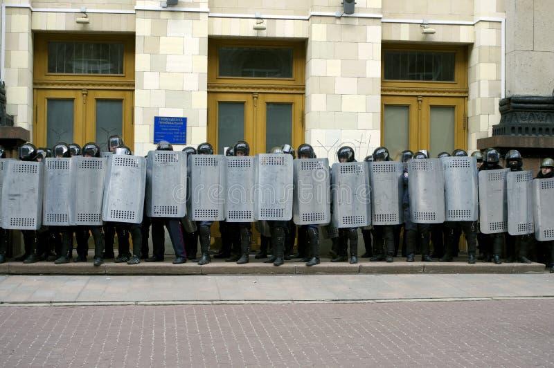 Protesta de ?ntiauthority en Járkov, Ucrania foto de archivo libre de regalías