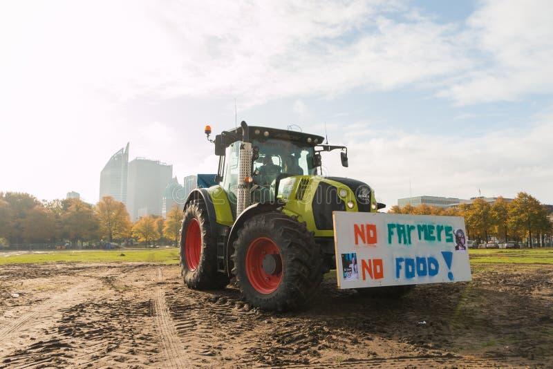 Protesta de agricultores en La Haya fotos de archivo libres de regalías