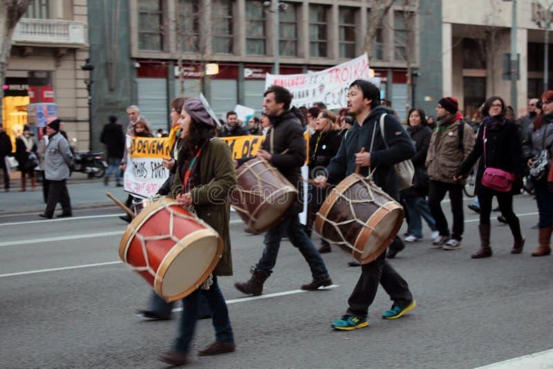 Protesta de Barcelona foto de archivo libre de regalías