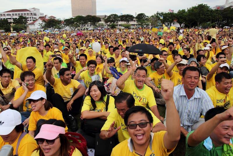 Protesta de BERSIH 3.0 en Penang Malasia 1 imagen de archivo