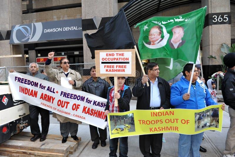 Protesta de Cachemira fuera del consulado indio foto de archivo libre de regalías