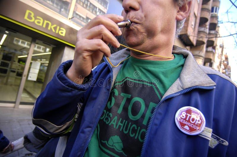 Protesta de la corrupción política en España imagen de archivo libre de regalías