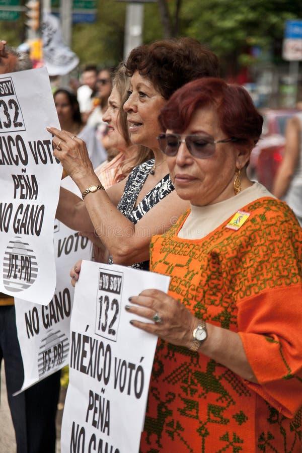 Protesta de la elección de Ciudad de México fotografía de archivo libre de regalías