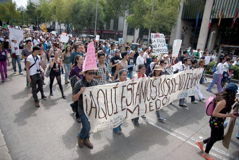 Protesta de la elección de Ciudad de México fotografía de archivo