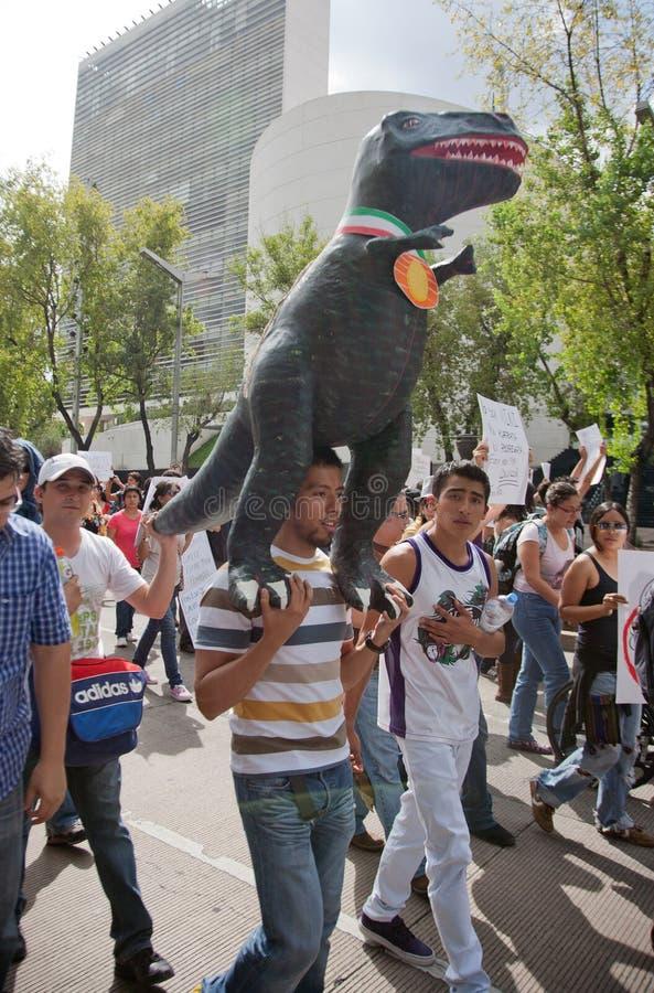 Protesta de la elección de Ciudad de México foto de archivo