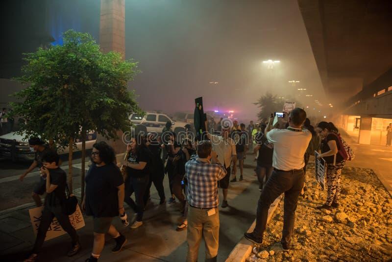 Protesta de la reunión del triunfo de Phoenix fotos de archivo libres de regalías