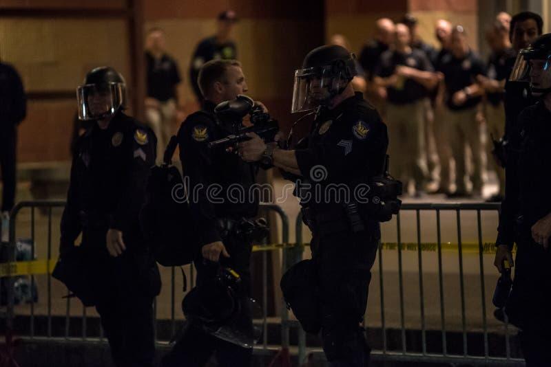Protesta de la reunión del triunfo de Phoenix foto de archivo