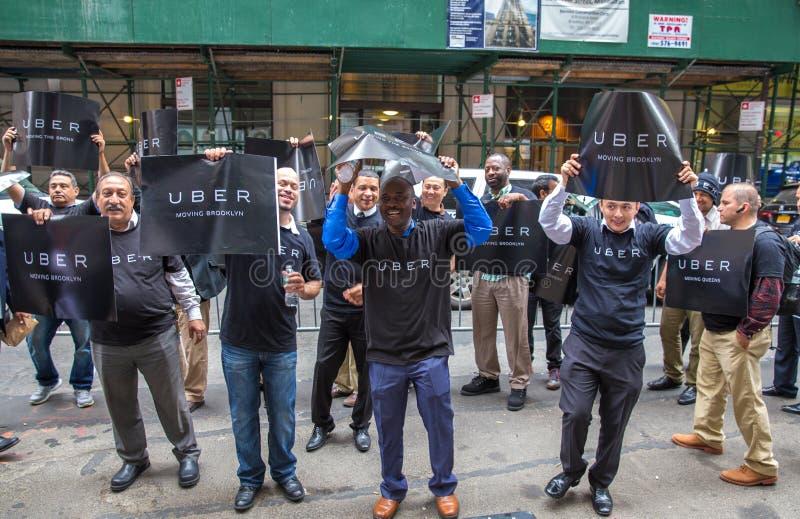 Protesta de los conductores de Uber imagen de archivo