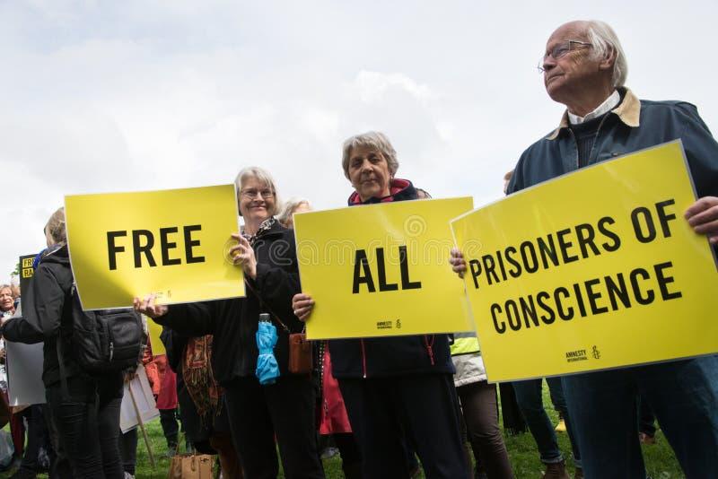 Protesta de los derechos humanos imagen de archivo libre de regalías