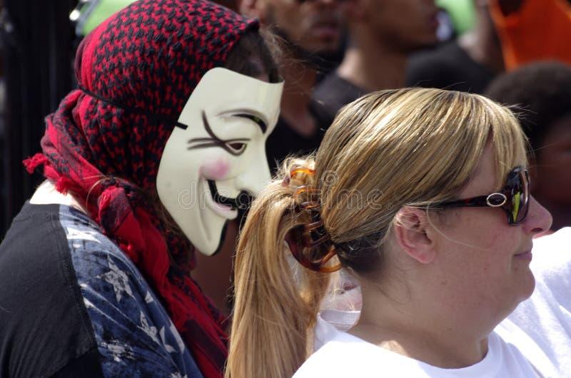 Protesta de Michael Brown fotos de archivo