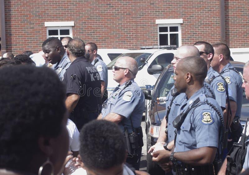 Protesta de Michael Brown imagenes de archivo