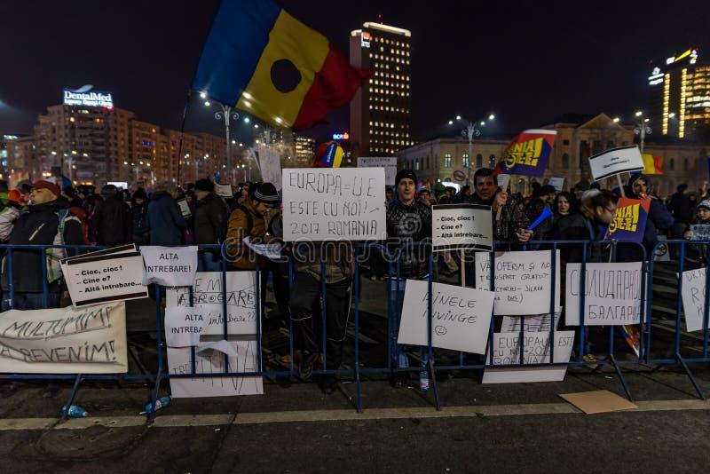 Protesta de Rumania, día 4 fotos de archivo