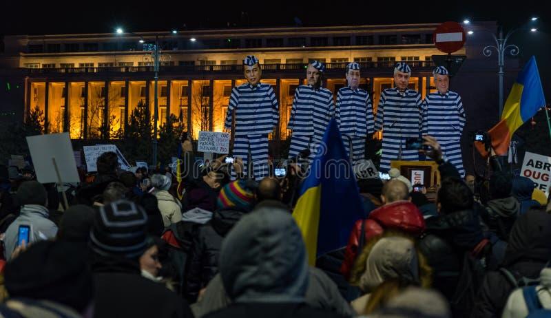 Protesta de Rumania, día 4 foto de archivo
