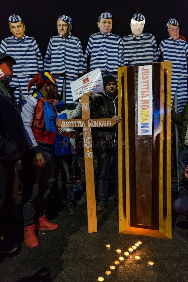 Protesta de Rumania, día 4 imagen de archivo libre de regalías