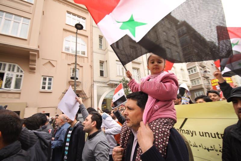Protesta de Siria imagen de archivo libre de regalías