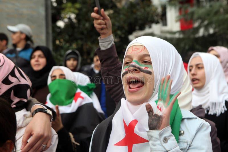 Protesta de Siria imágenes de archivo libres de regalías