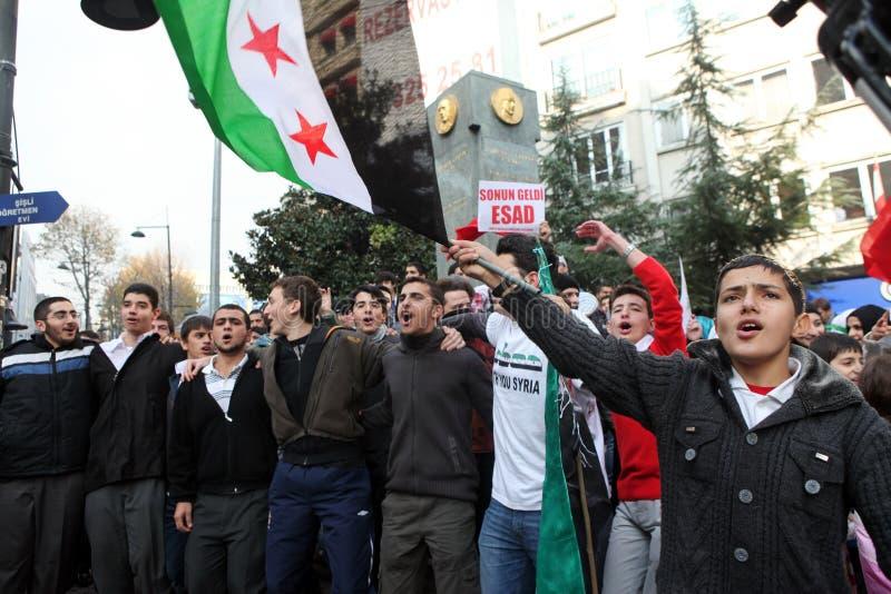 Protesta de Siria fotos de archivo libres de regalías