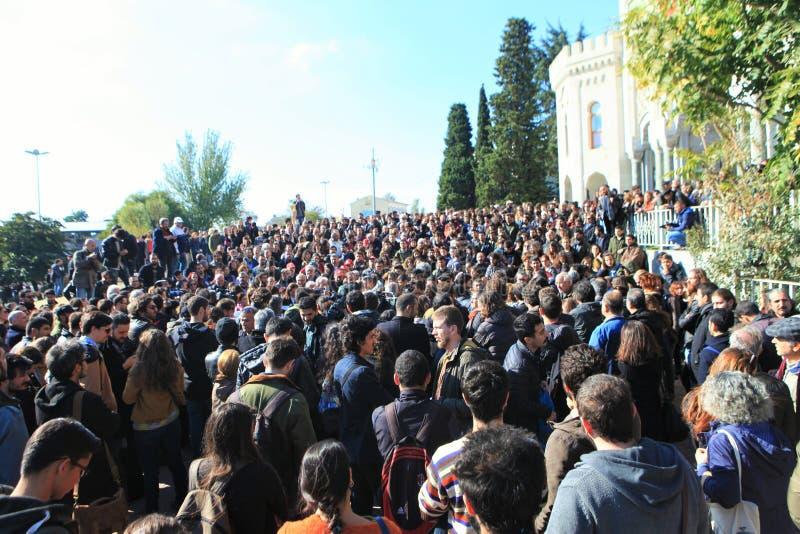 Protesta del académico en Turquía foto de archivo