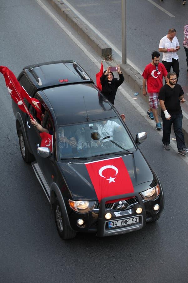 protesta del Anti-golpe en Turquía imágenes de archivo libres de regalías