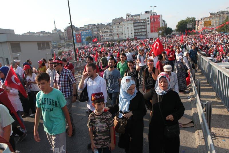 protesta del Anti-golpe en Turquía imagenes de archivo