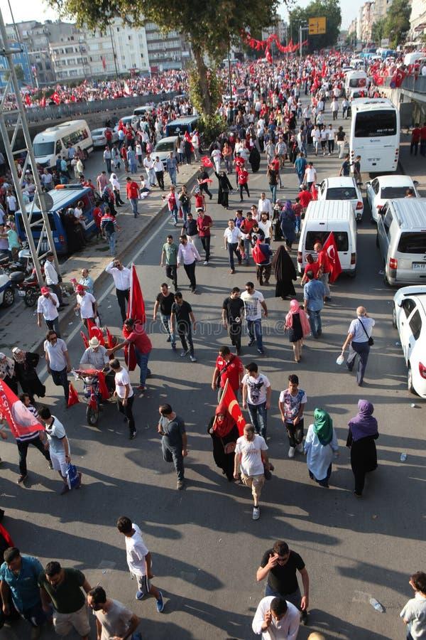 protesta del Anti-golpe en Turquía fotografía de archivo