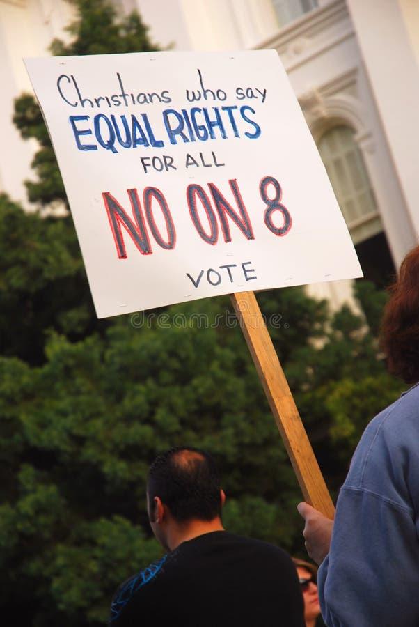 Protesta del apoyo 8 imagen de archivo