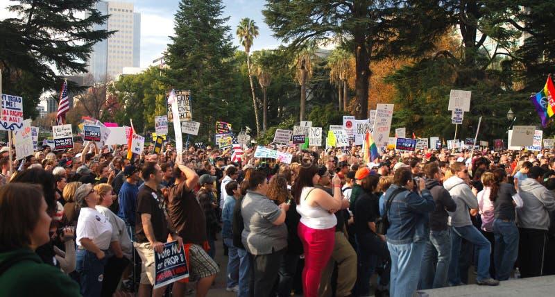 Protesta del apoyo 8 imagen de archivo libre de regalías
