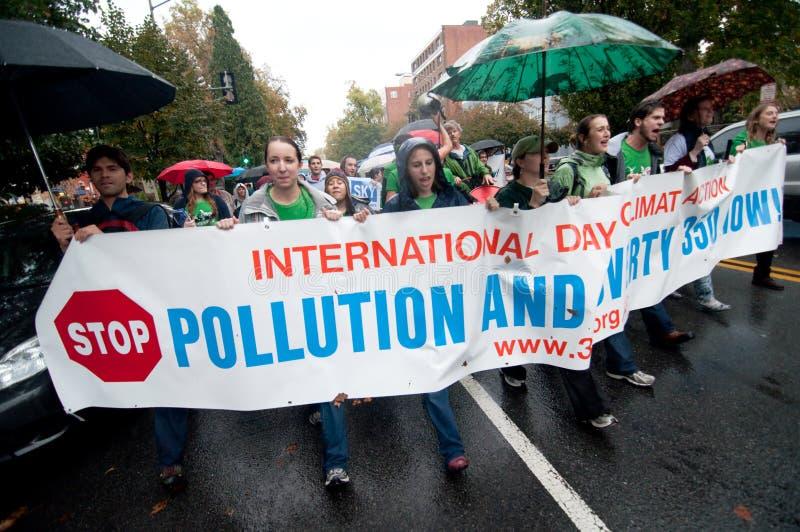 Protesta del cambio de clima fotos de archivo libres de regalías