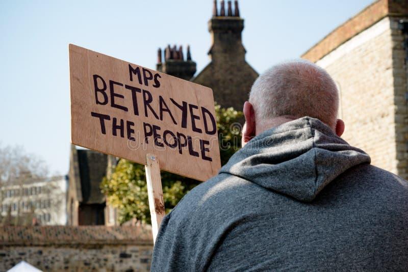 Protesta del día de Brexit en Londres fotografía de archivo