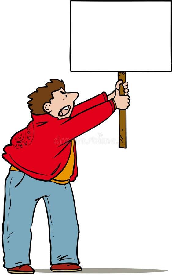 Protesta del hombre libre illustration