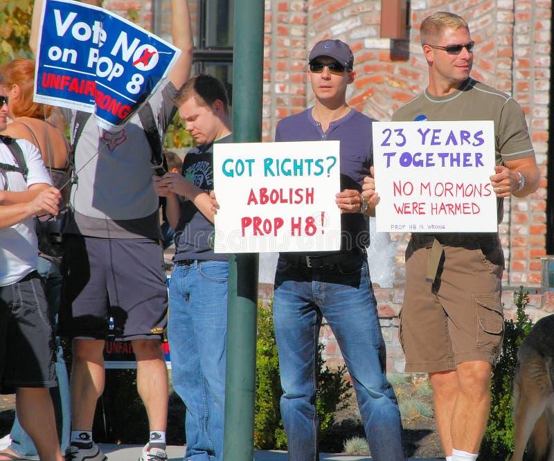 Protesta del matrimonio homosexual imagen de archivo libre de regalías