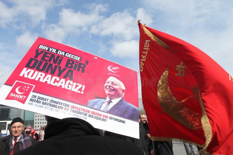 Protesta del memorándum militar foto de archivo