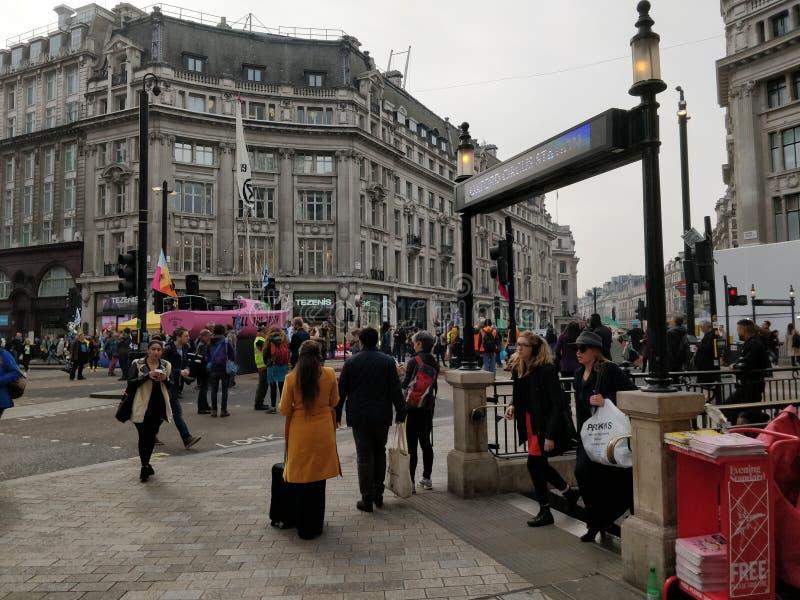 Protesta del mutamento climatico di Londra immagine stock libera da diritti