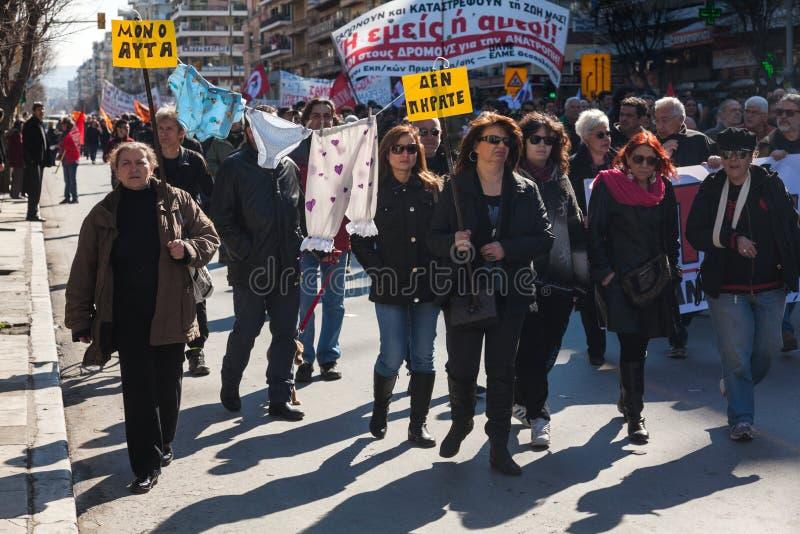 Protesta despedida de los funcionarios  imagen de archivo