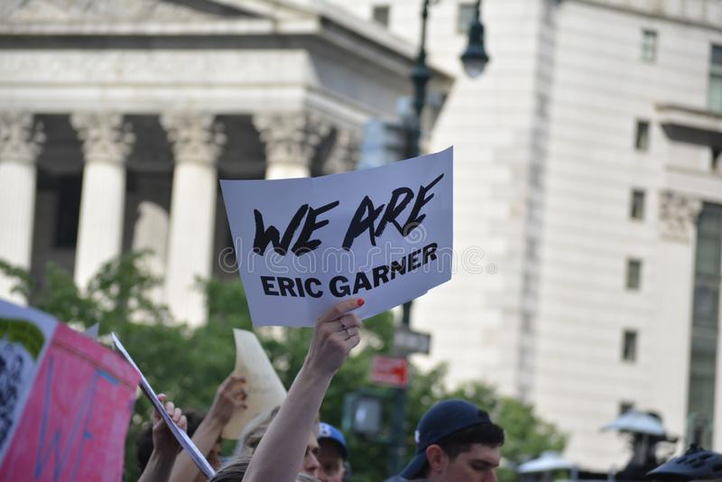 Protesta di Eric Garner in New York fotografia stock