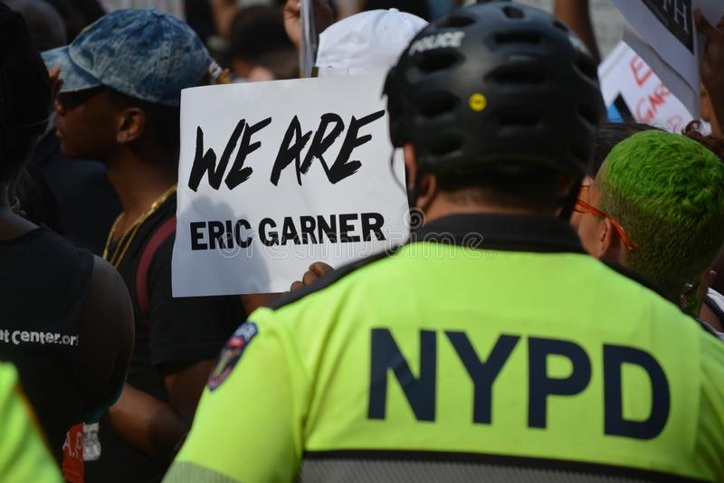 Protesta di Eric Garner in New York immagini stock