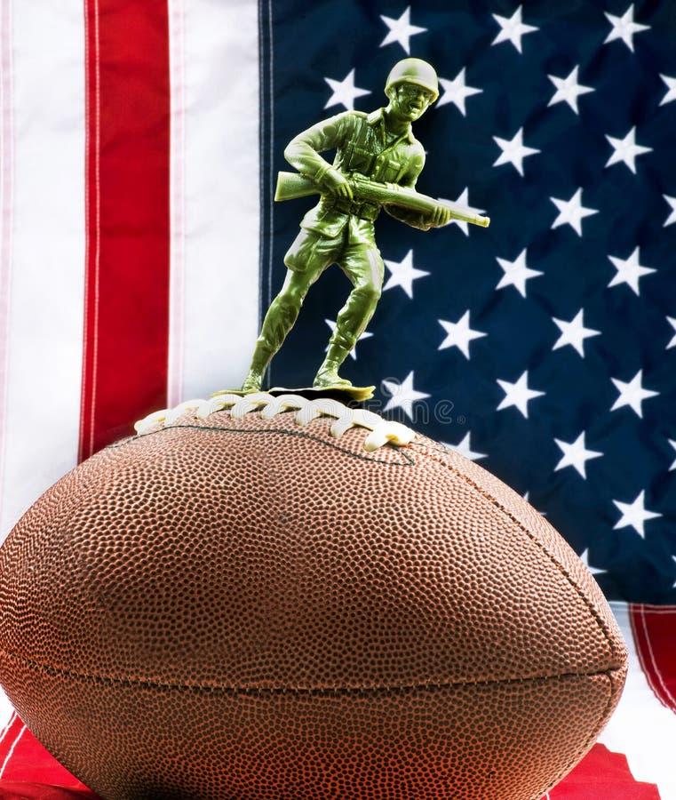 Protesta di football americano immagine stock