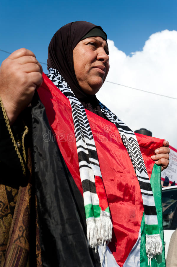 Protesta di Gerusalemme orientale fotografie stock