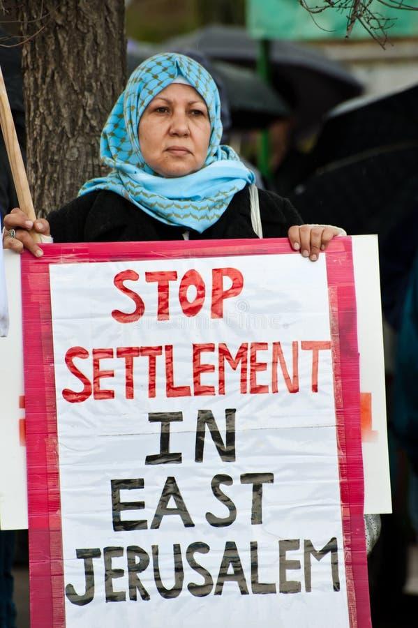Protesta di Gerusalemme orientale fotografia stock