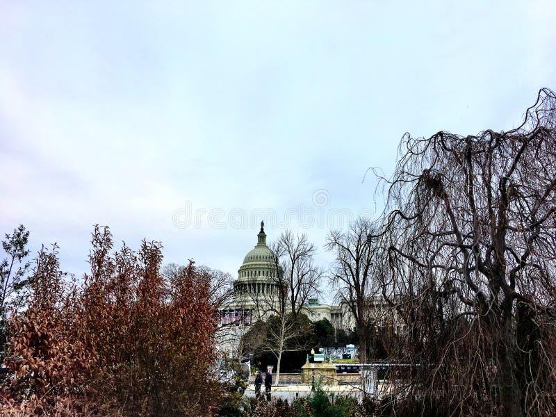 protesta en Capitol Hill foto de archivo libre de regalías