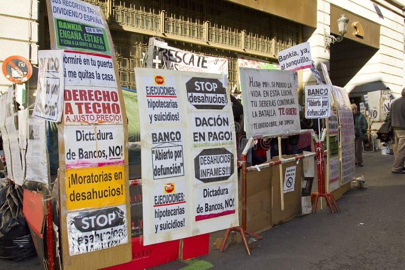 Protesta en España fotos de archivo