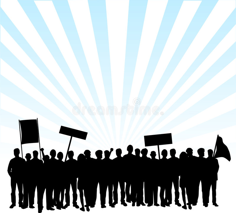 Protesta en las calles ilustración del vector