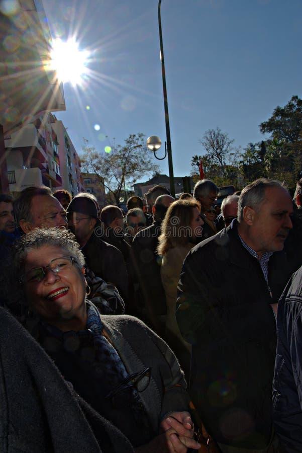 Protesta en nombre de las pensiones 1 imagenes de archivo