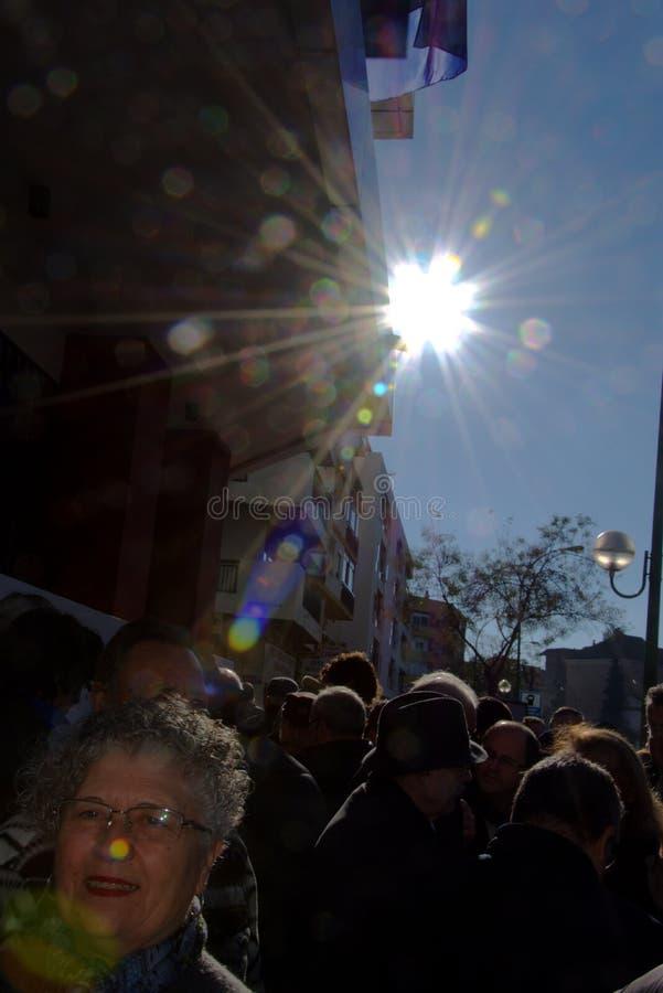 Protesta en nombre de las pensiones 2 fotografía de archivo libre de regalías