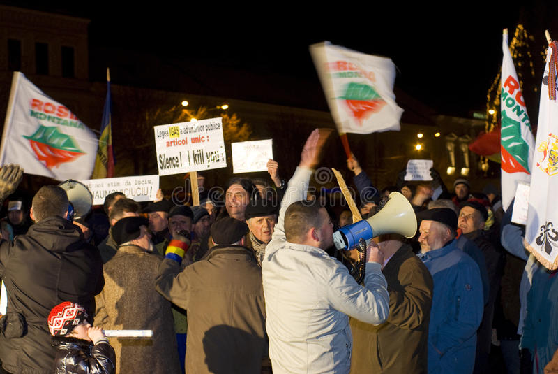 Protesta en Rumania imagenes de archivo