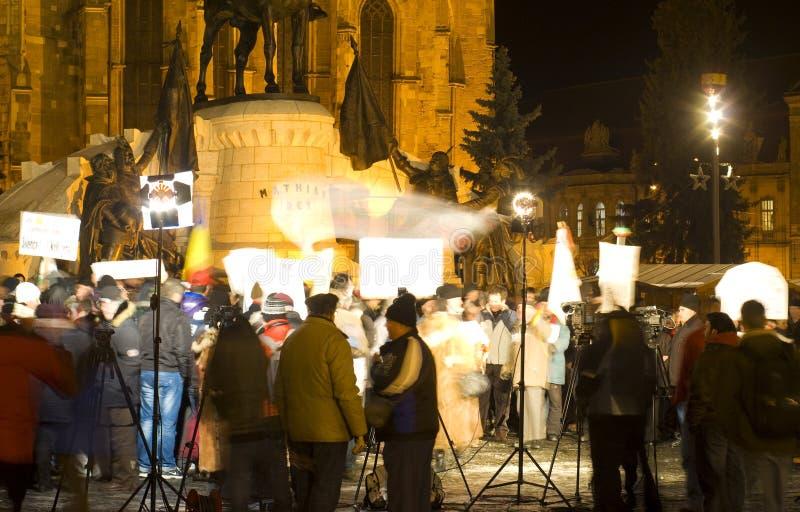 Protesta en Rumania imágenes de archivo libres de regalías
