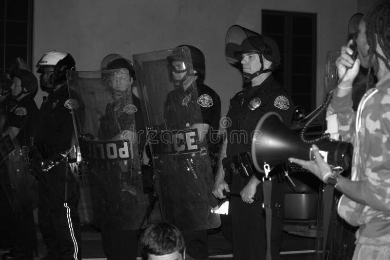 Protesta a escala nacional sobre el acto del gran jurado de Ferguson imagenes de archivo