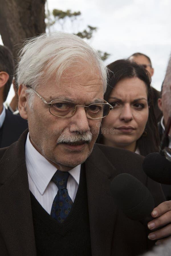 Protesta libia de la embajada imagen de archivo