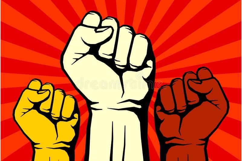 Protesta, manifesto ribelle di arte di rivoluzione di vettore illustrazione vettoriale